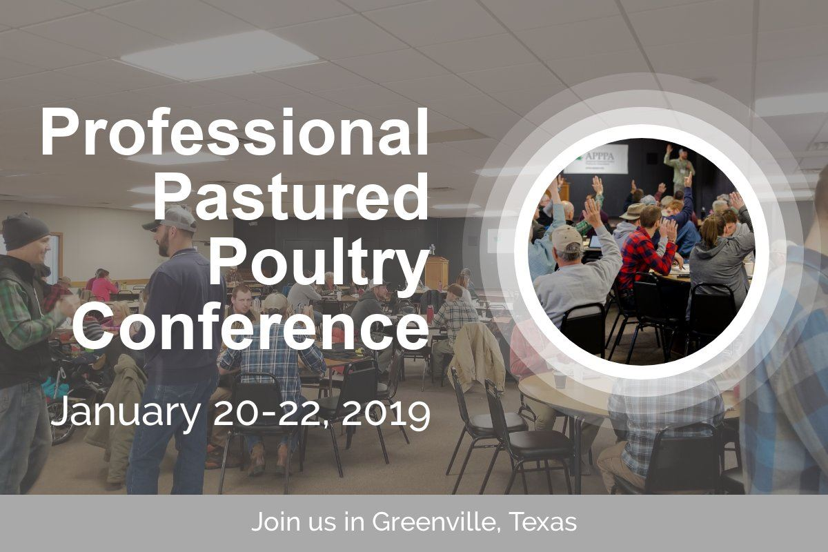 image advertising pastured poultry conference in Greenville Texas